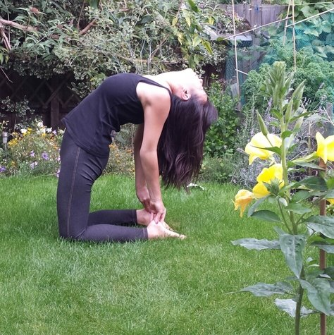 heart opening yoga pose  ustrasana camel pose  eat