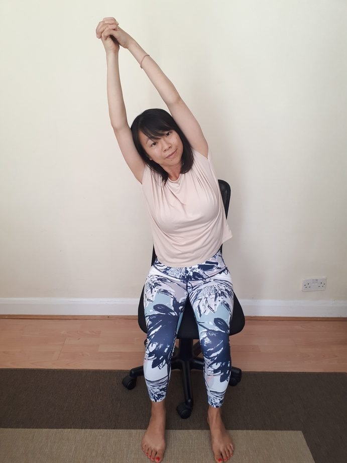 Chair Yoga Moon Pose Side Stretches