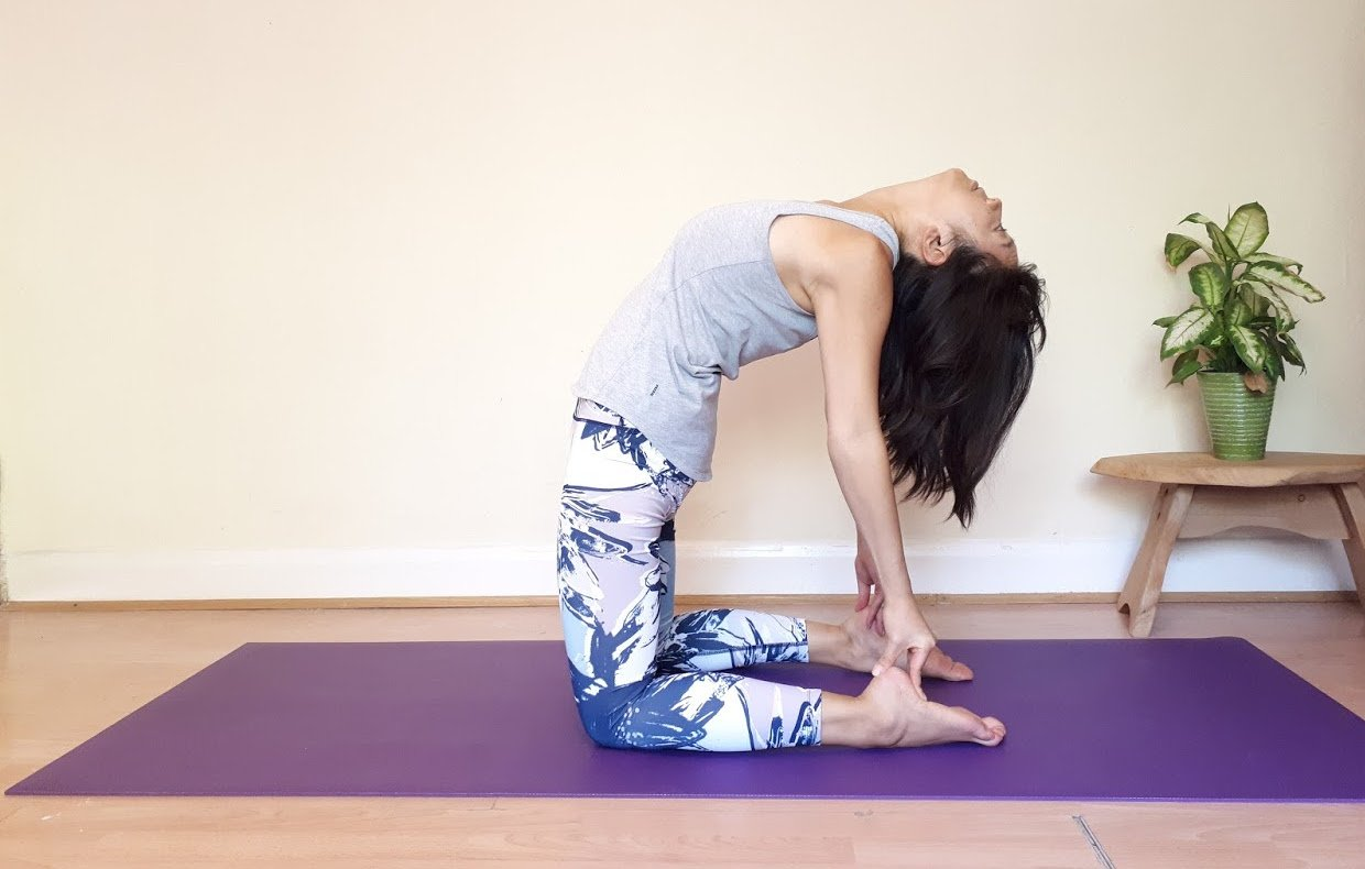 Uplift Your Mood with a Heart Opening Yoga Pose - Camel Pose