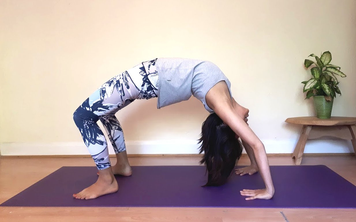 Uplift Your Mood with a Heart Opening Yoga Pose - Wheel Pose