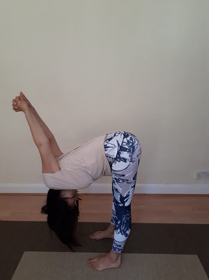 Office Yoga Forward Bend Shoulder Stretch