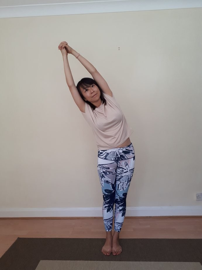 Office Yoga Standing Moon Pose Side Stretches