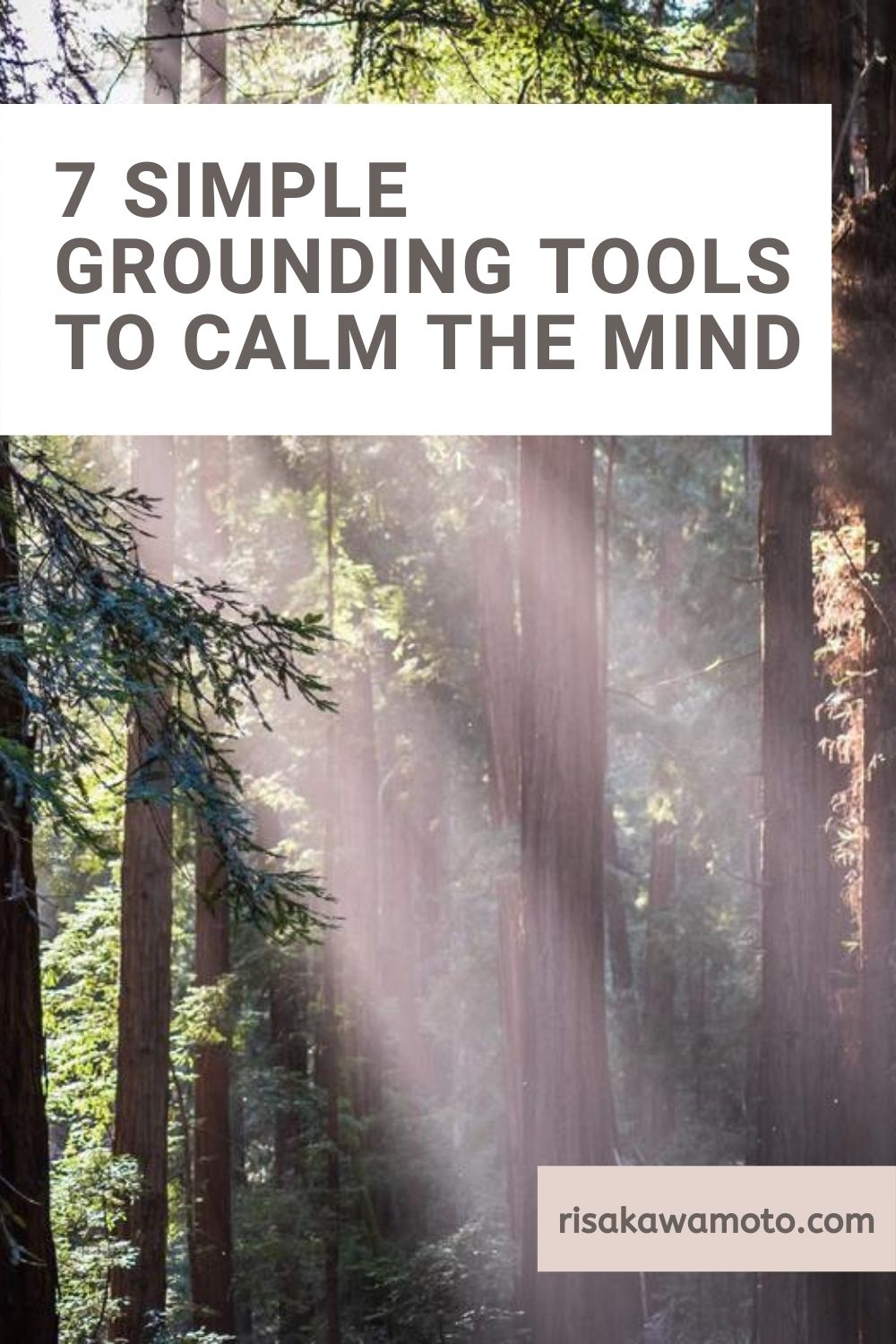 7 Simple Grounding Tools to Calm the Mind